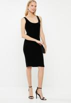 Cotton On - Kylie scooped bodycon dress  - black