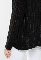 Cotton On - Open ladder knit cardi  - black