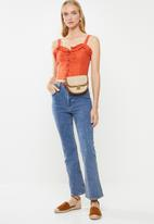 Cotton On - Lizzy lace up top  - orange