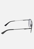 Diesel  - Matte black frame sunglasses with smoke lenses - black