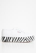 SUPERGA - Superga 2790 printed foxing - white zebra