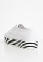 SUPERGA - Superga 2790 stripe platform - white/black