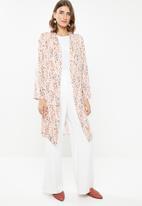 edit - Long kimono - orange & white