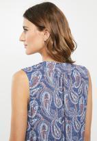 edit - Sleeveless shift dress - multi