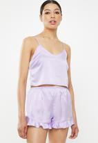 Missguided - Cropped cami pj set - purple