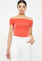 Sissy Boy - Lavana: logo bardot tee - orange