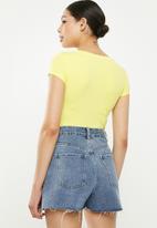 Sissy Boy - Rengo: round neck bling logo tee - yellow