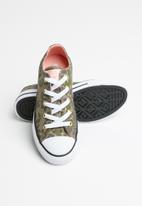 Converse - Chuck Taylor All Star camo gold star - green