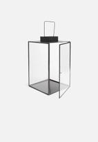Sixth Floor - Glass lantern - black