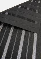 Kitchen Craft - Stripe woven placemat - black