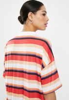 Missguided - Oversized T-shirt dress short sleeve stripe - multi