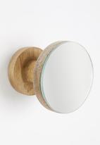 Sixth Floor - Mika mirror wall hook set of 2 - brown