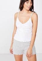 Cotton On - Pointelle sleep tank  - white