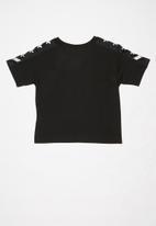 Converse - Converse girls All Star knit top - black