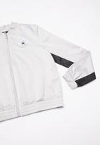Converse - Converse girls wordmark satin track jacket - grey