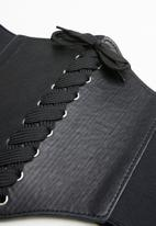 Missguided - Lace up corset belt - black