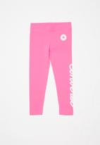 Converse - Converse girls signature chuck patch legging - pink