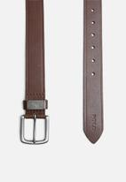 POLO - Roland leather belt - brown