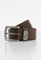POLO - Jacob leather belt - brown