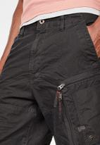 G-Star RAW - Arris relaxed 1\2 zip shorts - black