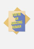 Typo - Blank card - amazing human