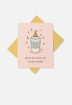 Typo - Premium funny birthday card - latte love