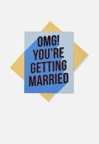 Typo - Engagement card - omg you're getting married