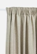 Sheraton - Manhattan taped curtain - stone melange