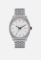 Nixon - Time teller sw - silver & orange