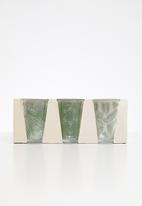 Sixth Floor - Jaya water glass set of 3 - green