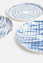 Sixth Floor - Melamine side plate set of 6 - indigo & white