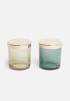 Sixth Floor - Canisters set of 2 - yellow/green