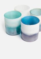 Sixth Floor - Hurricane tealight holder set - multi
