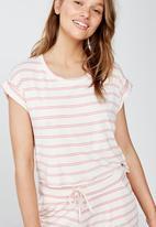 Cotton On - Sleep recovery hip grazer T-shirt  - pink