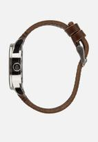 Nixon - Sentry 38 leather - blue & brown
