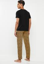 Brave Soul - Leopard sleep set - black & brown