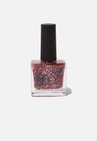Cotton On - Rubi gel nail polish - rose gold glitter