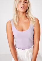 Cotton On - Scoop rib tank  - purple