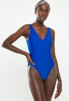 Bacon Bikinis - Low back one piece - blue
