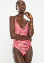 Bacon Bikinis - Amber one piece - red