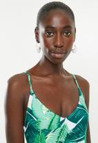 Bacon Bikinis - Simba one piece - green & white