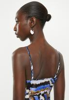 Superbalist - Satin midi dress with cowl neck - multi