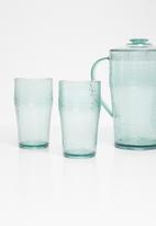 Sixth Floor - Recycled glass look cup set of 4 - tinted green