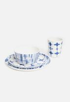 Sixth Floor - Melamine bowl set of 6 - indigo multi