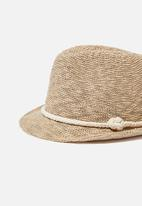 Cotton On - Trilby hat - natural