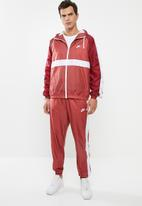 Nike - Ce woven tracksuit - burgundy & white