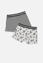 Cotton On - Boys 2pk trunk - black & grey