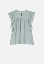 Cotton On - Maggie short sleeve dress - blue