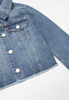 Levi's® - Levi cropped trucker jacket - blue