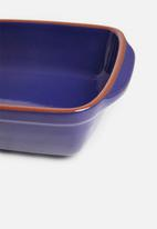 Excellent Housewares - Stoneware dish - blue